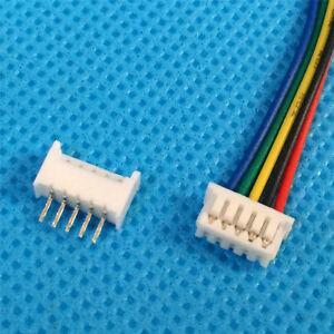 10 juegos micro JST 1.25 mm 5-pin - enchufe hembra y macho con alambre T