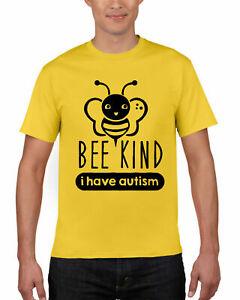 Bee-genre-j-039-ai-Autisum-T-shirt-Autisum-sensibilisation-Egotist-cadeaux-adulte-Tee-Top