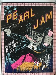Pearl-Jam-seattle-poster-2018-faile-the-home-shows-pj-tour-db-cooper-hijack