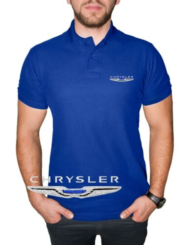 Chrysler Polo T Shirt COTTON EMBROIDERED Auto Car Logo Tee Mens Clothing Gift