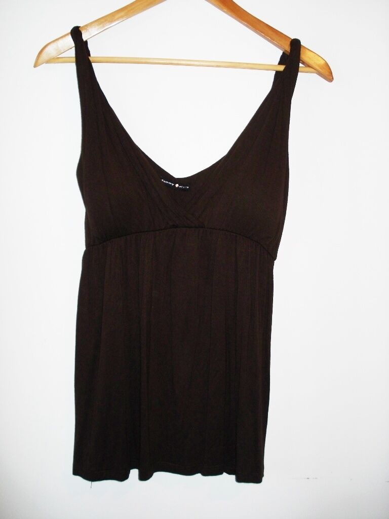 TAMMY MARS BUSTIER FLOWY TANK TOP CHOCOLATE braun LARGE