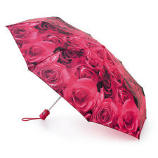 Fulton Open & Close Umbrella - Rose Red