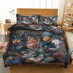 Peaches Pineapples 3D Printing Duvet Quilt Doona Covers Pillow Case Bedding Sets