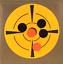 "Target Shooting Stickers 6/"" Round Neon Orange w// Black Adhesive Pasters 50 Total"