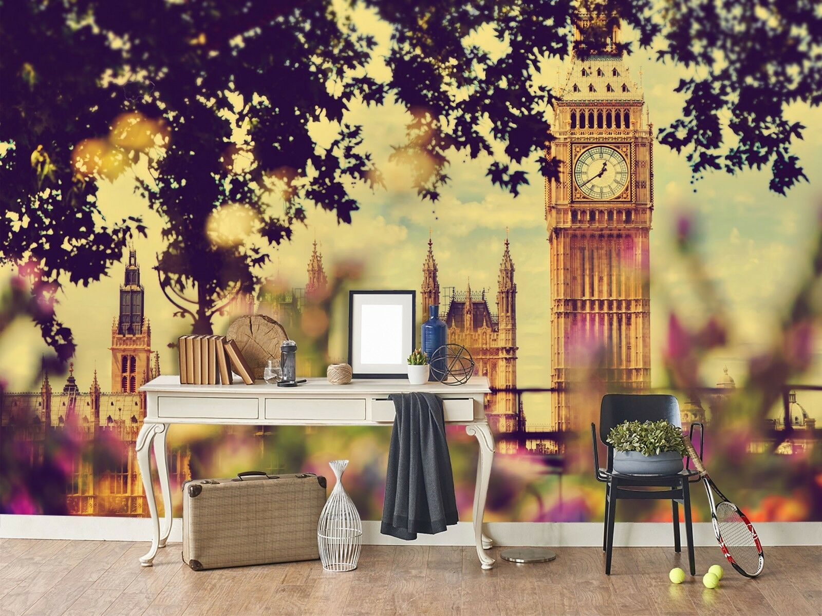 3D Big Ben City 987 Wallpaper Mural Paper Wall Print Indoor Murals CA Summer