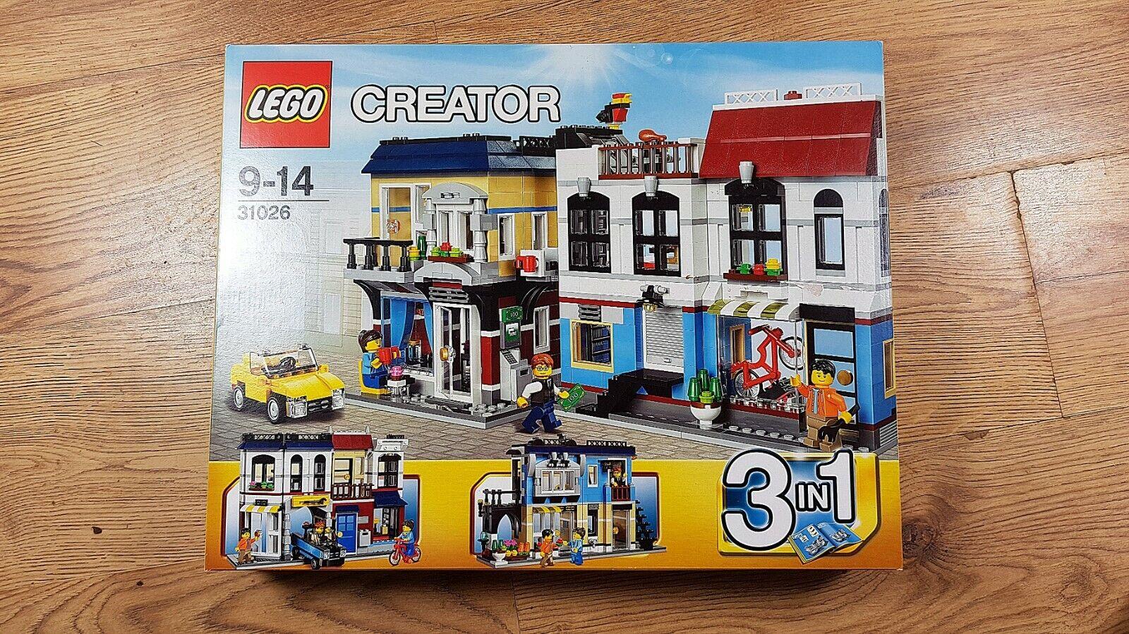 LEGO Skapare 31026 cykel Shop och CaféNytt, fabrikssätt, bra villkor