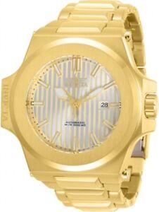 New-Mens-Invicta-30136-58mm-Akula-Prestige-Auto-Triple-Gold-Tone-s-s-Watch
