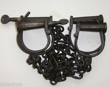 Iron Prisoner Transfer Leg and Hand Cuffs and Keys Georgetown