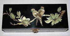 Joyero Chino Oriental Con Madre De Perla Aves/Magnolia Decoración