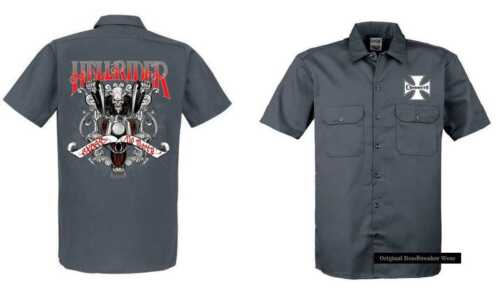 Biker e Hellrider Chopper Gray Model Camicia Vintage Hd Worker Old Motive School ZfcCwfqI