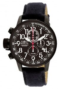 Invicta-Men-039-s-Watch-I-Force-Chronograph-Lefty-Black-Dial-Black-Fabric-Strap-1517