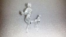 Vintage Art Glass Poodle Dog Animal Sculpture Statue Figurine