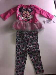 Disney-Baby-Girls-039-Minnie-Mouse-Legging-Set-with-Tulle-3-6-Months-Retail-30-00