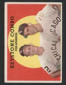 1959 Topps #408 Nellie Fox/Luis Aparicio EX/EX+ White Sox Keystone Combo 81957