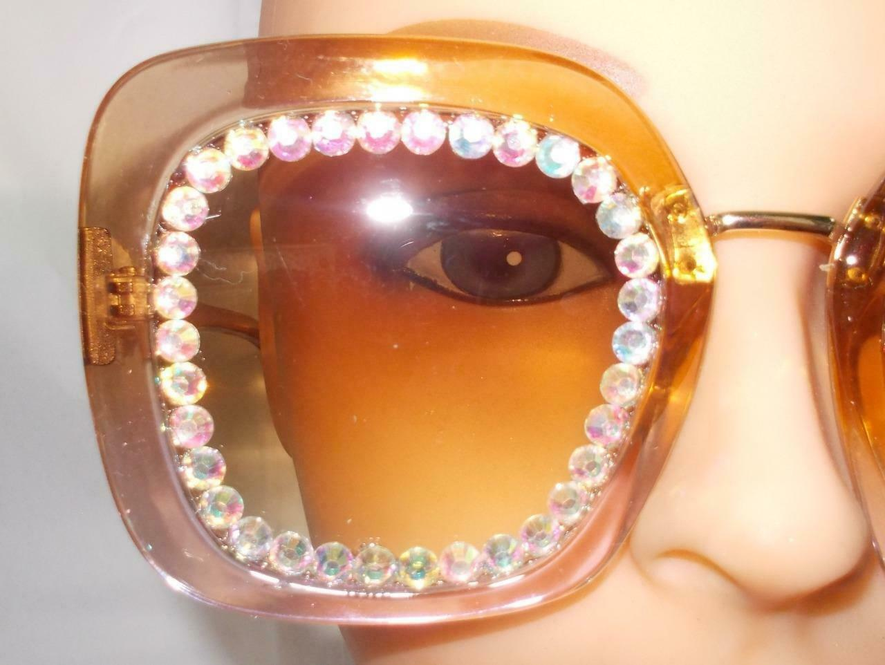 2021 SUN GLASSES OVERSIZED 5 COLORS WITH RHINESTONES FREE SHIP AND POUCH