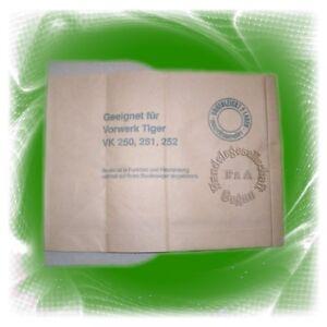 Filter Staubsaugerbeutel Filtertüte für Vorwerk />/> Tiger 250 251 252 /< //6031