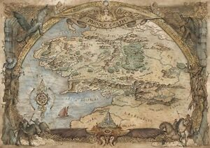Map of Middle Earth Lord Of The Rings MME02 POSTER ART PRINT A1 A2 ...