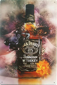 Jack-Daniels-collectable-metal-plaque-tin-sign-for-bar-pub-man-cave-shed-garage