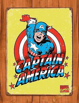 Captain America Falcon Marvel comic metal tin sign unframed wall art