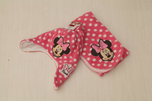 NEW Minnie Mouse Girls Winter Knit Scarf /& Trapper Hat Set 2-4 years