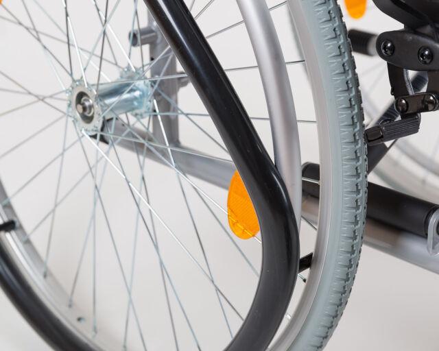 1 Paar Silikon Greifreifenüberzüge für 24 Zoll Rollstuhl Räder schwarz glatt
