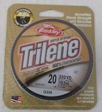 Berkley TLFFS2015 Trilene 100/% Fluorocarbon 20lb Fishing Line 200yd #9788424