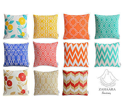 Waterproof Outdoor Cushion Covers Colourful Floral Geometric Patio Pillow Cases Ebay