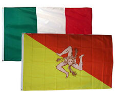 "12x18 12""x18"" Wholesale Combo Italy Italian & Sicily Flag Grommets"
