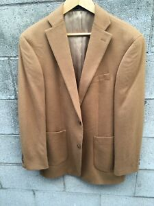 Brown 40r Jacket Coat Blazer Arnold Solid Camel 100 Sport Brant Cashmere qWBRYZ
