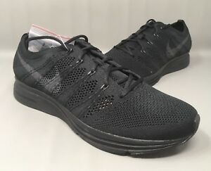 6d8b3c74efb07 Image is loading Nike-Flyknit-Trainer-Triple-Black-Anthracite-AH8396-004-