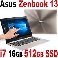 Asus Zenbook 6th 16gb 512gb Ssd I7-6500u 13.3 Qhd+ Touch Nvidia 940m Ux303ub