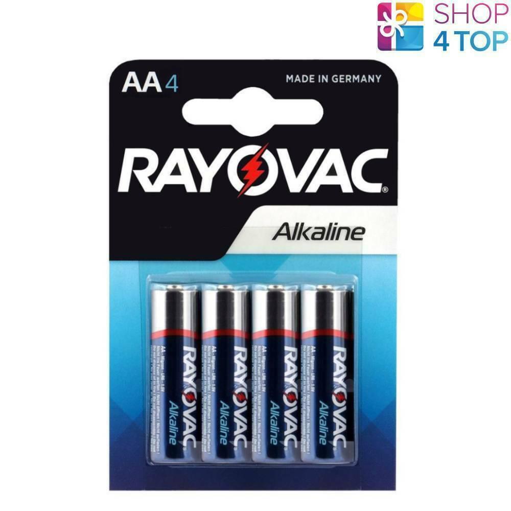 4 rayovac alkaline AA lr06 batteries Ampoule 1.5v mn1500 stilo 2700mah new