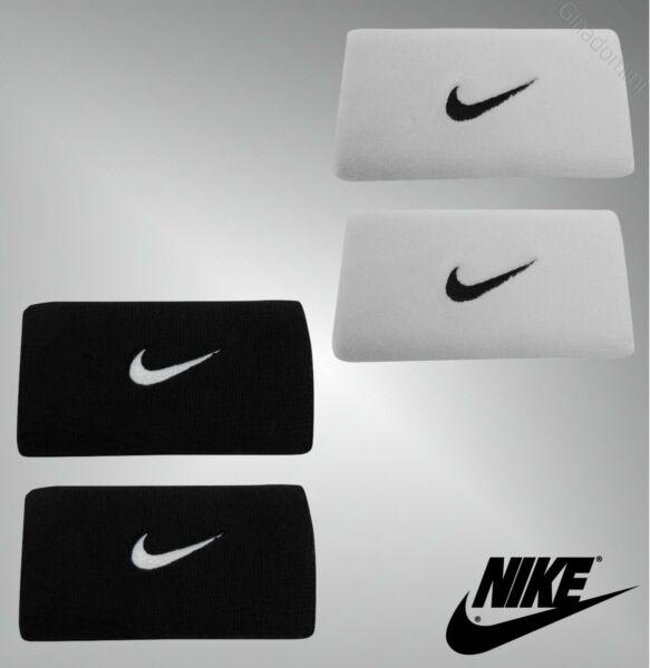 2 Pack Unisex Nike Absorbente De Tela Bordado Logo Muñequera Doble-ver Una Amplia SeleccióN De Colores Y DiseñOs