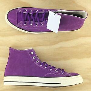 Details about Converse Chuck Taylor All Star 70 Hi Top Purple Suede Base Camp Shoes 162369C Sz