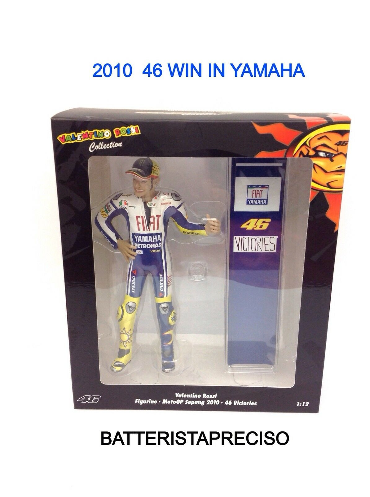 mejor calidad MINICHAMPS VALENTINO ROSSI ROSSI ROSSI 1 12 Figura + PIT 46 VICTORIERS IN YAMAHA 2010 SEPANG  ofrecemos varias marcas famosas