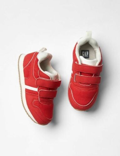 Toddler Boys NWT Size 9 Red Velcro Sneakers Trainers Athletic Shoes GAP Baby