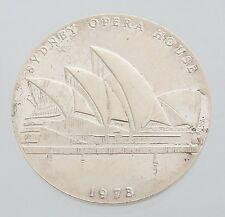 1973 Australian Medallion, Sydney Opera House, Silver Medal, aUnc