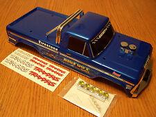 Traxxas 2wd Stampede Original Bigfoot Blue Body w/ Bumpers & Roll Bar XL5 XL-5