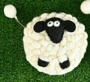 Erin Knitwear Wool Sheep Purse