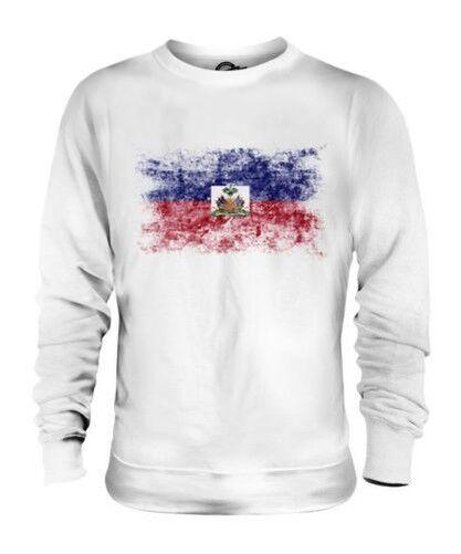 Haïti Drapeau Délavé Unisexe Pull Haïti Haïtien Ayiti T-Shirt Football