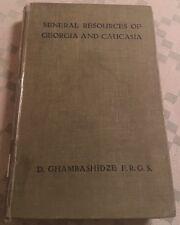 1919 MINERAL RESOURCES OF GEORGIA CAUCASUS Armenia Georgian CAUCASIAN, Manganese
