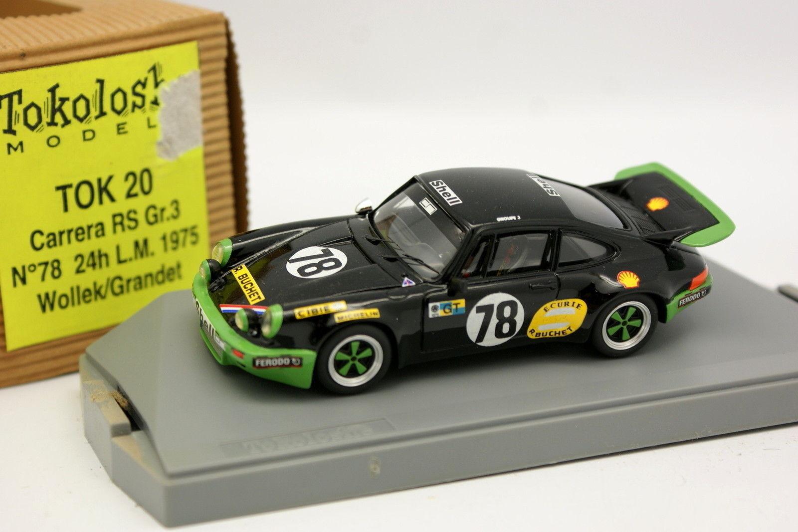 Tron tokoloshe 1 43 - porsche 911 carrera rs gr3 le mans 1975 n º 18