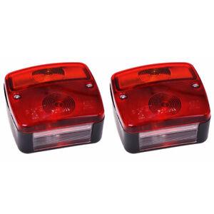 2 x E9 KFZ Anhänger Rücklicht Rückleuchten Licht Leuchte Anhängerbeleuchtung