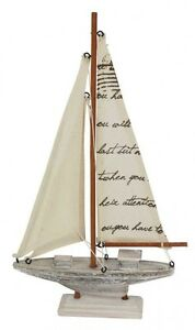Sailboat Script Small 34cm New Home Decor Nautical Marine Theme Beach Decor