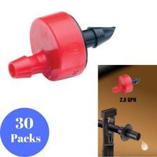 2.0 GPH Emitters Spot Watering Drip Micro Irrigation Garden Plants 30-Pack