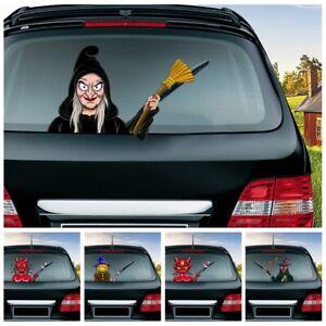 Details About Funny Halloween Rear Windshield Window Decals Car Wiper Waterproof Stickers 2019
