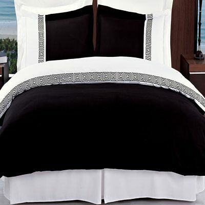 Relaxing 3pc Cotton Cherry Embroidered Duvet Cover Set