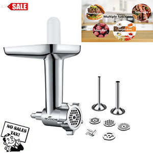 Details about Food Meat Grinder Attachment for Kitchen Aid Stand Mixers  with Sausage Stuffer