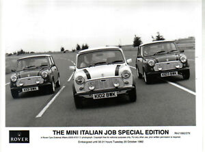 Mini-Italian-Job-Special-Edition-original-Press-Photo-1992-No-279-shows-3-cars