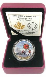 2017-10-Fine-Silver-Coin-PASSION-TO-PLAY-CALGARY-FLAMES-Royal-Canadian-Mint